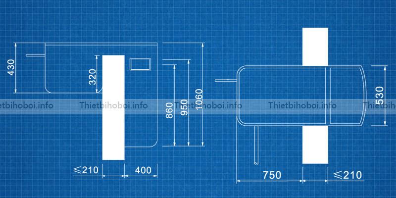 bản vẽ kỹ thuật Máy lọc thông minh PK-8022