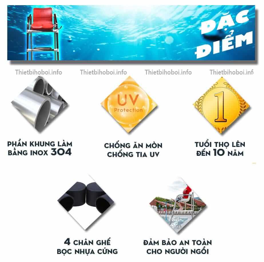 Đặc điểm ghế quan sát bể bơi SA-5