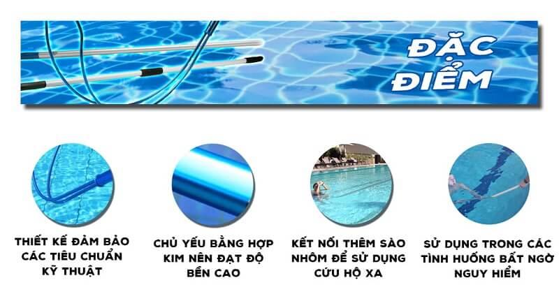 Đặc điểm móc cứu hộ bể bơi