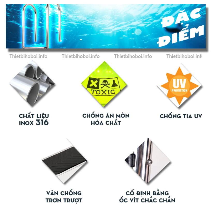 Đặc điểm thang bể bơi Kripsol Im2c