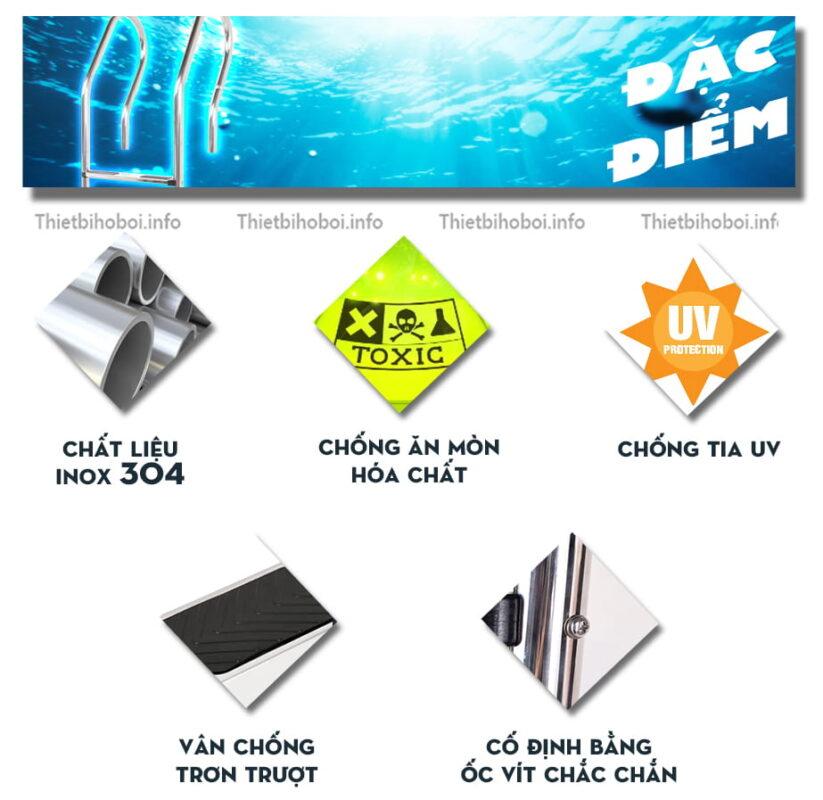 Đặc điểm thang bể bơi Kripsol mxi series