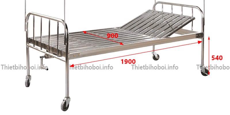 Mô tả giường inox nâng đầu