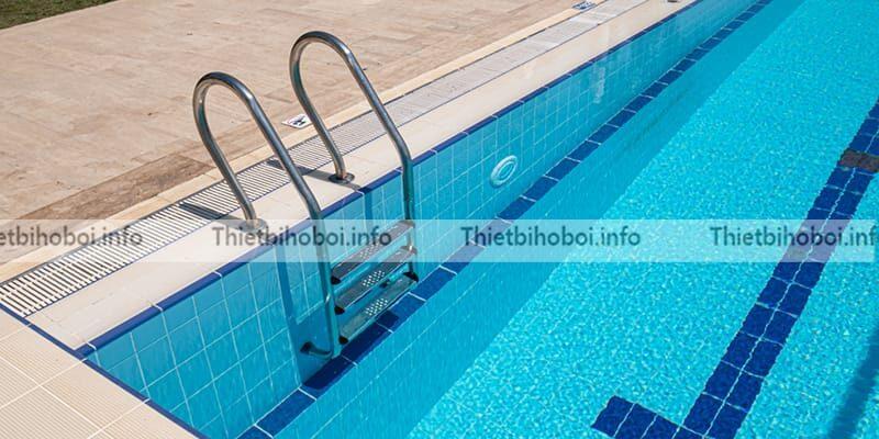 Ứng dụng thang bể bơi emaux nsf315-p