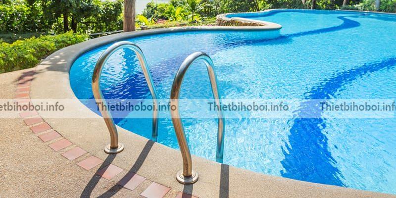 Ứng dụng thang bể bơi emaux sff215-p