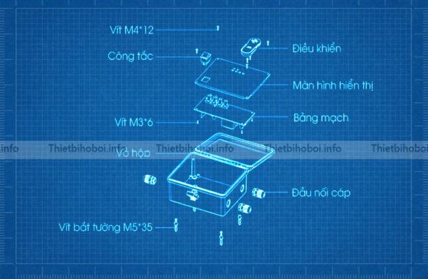 bản vẽ hộp điều khiển đèn led