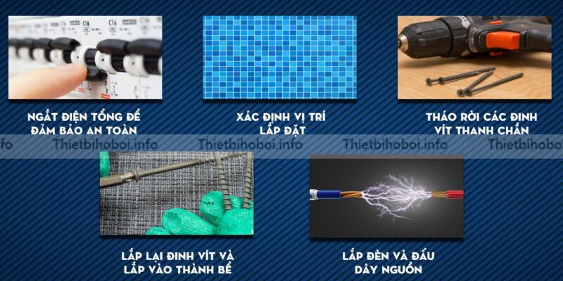 cách lắp đặt đèn led emaux elcom N