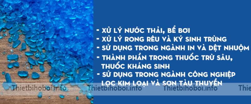 Công dụng hóa chất bể bơi đồng bột CUSO4