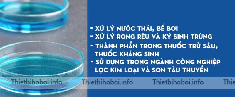 Công dụng hóa chất đồng nước CUSO4