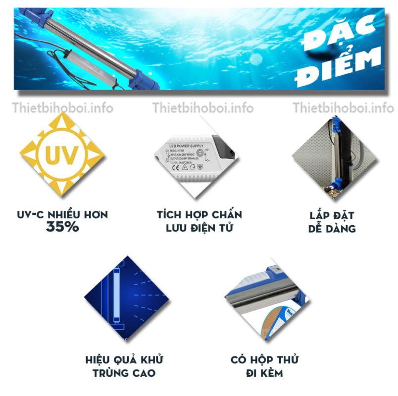 đặc điểm đèn uv blue lagoon bh04752