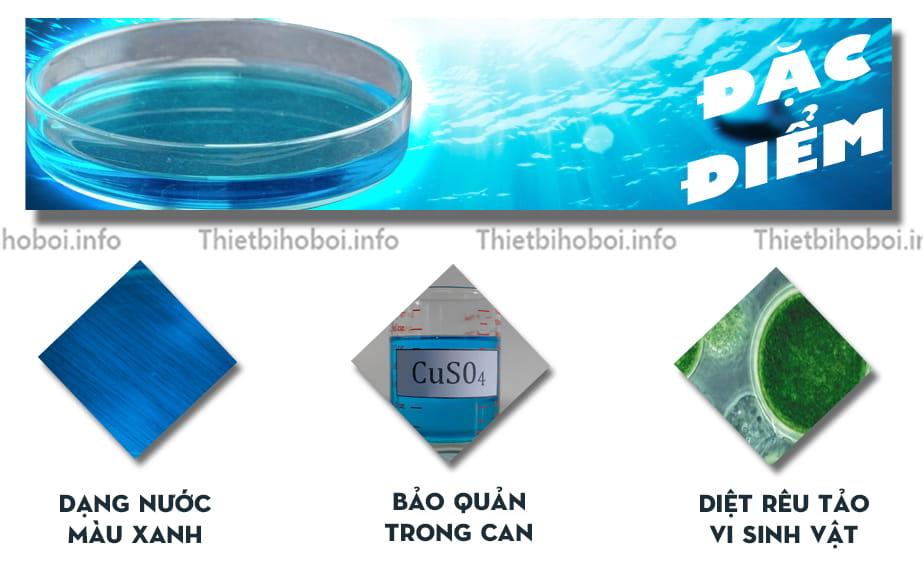 Đặc điển hóa chất bể bơi đồng nước CUSO4