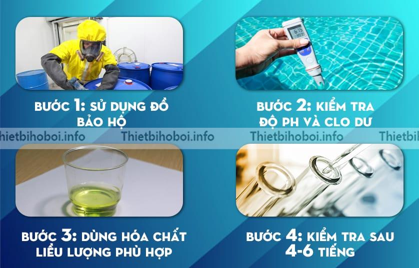 Hướng dẫn xử lý nước hồ bơi bằng HCL 32%