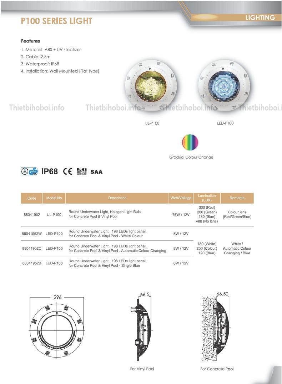 mô tả đèn halogen ul p100