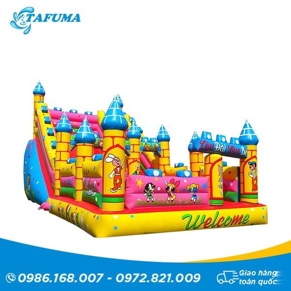nhà hơi lâu đài mẫu 1