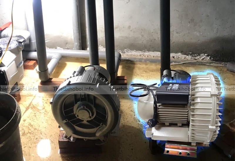 ứng dụng máy thổi khí con sò HCY1100C