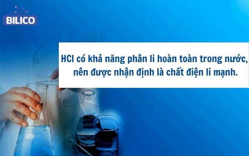 HCl là chất điện li mạnh hay yếu