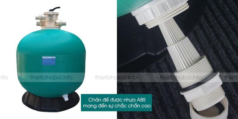 chân đế bình lọc cát TS650 được làm từ nhựa ABS