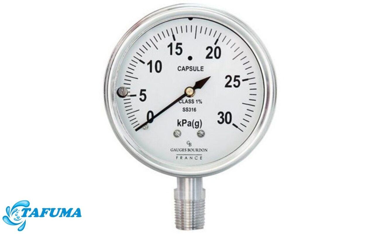 Đồng hồ đo áp chân đứng sử dụng đơn vị do kPa