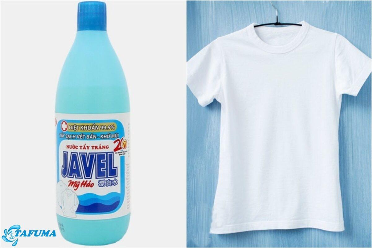 Quần áo được tẩy trắng khi sử dụng javen