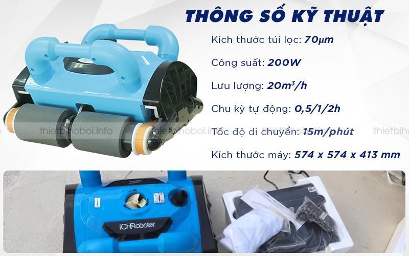 Thông số kỹ thuật của Robot vệ sinh TFC 200H