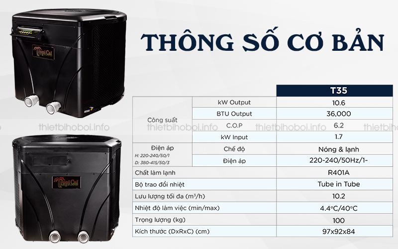 Thông số kỹ thuật của máy cấp nhiệt Mỹ T035HRD