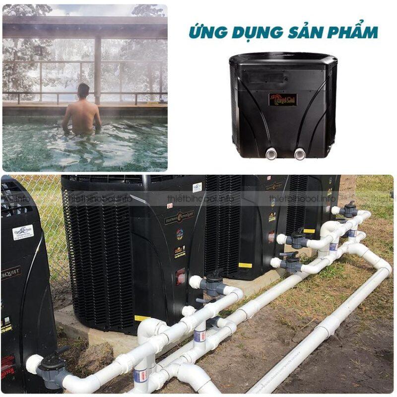 Ứng dụng của máy cấp nhiệt Mỹ trong bể bơi