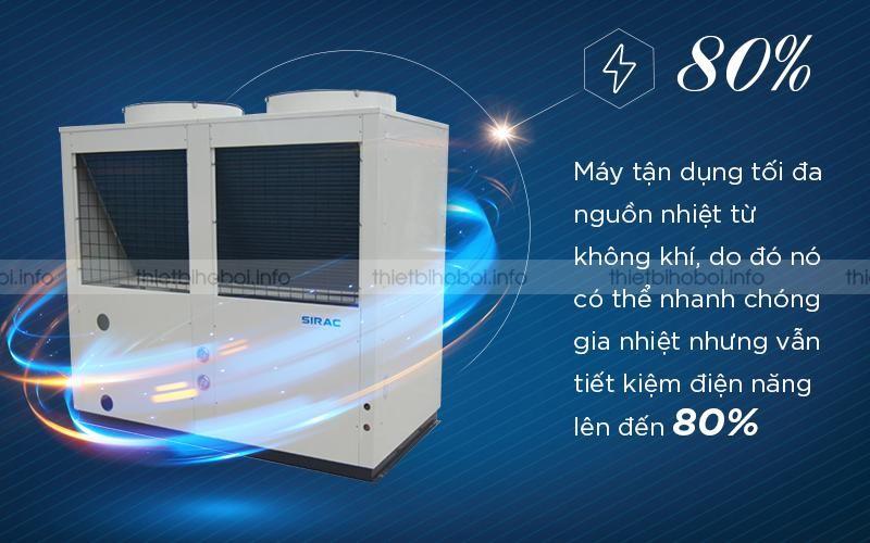Công nghệ heat pump giúp tiết kiệm 80% điện năng
