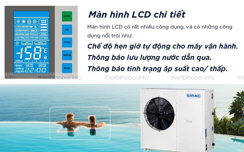 Máy cấp nhiệt SIRAC LSQ10RP có màn hình LCD chi tiết