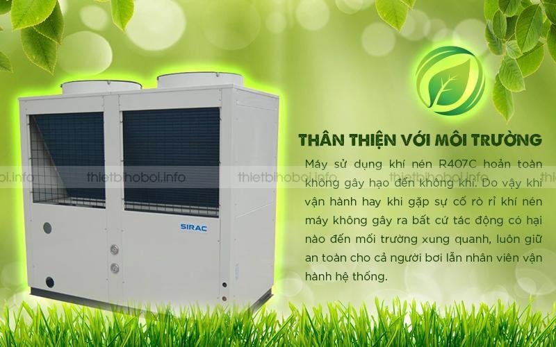 Máy cấp nhiệt SIRAC LSQ10RP thân thiện với môi trường