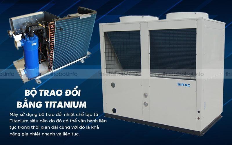 SIRAC LSQ04RP có bộ trao đổi titanium